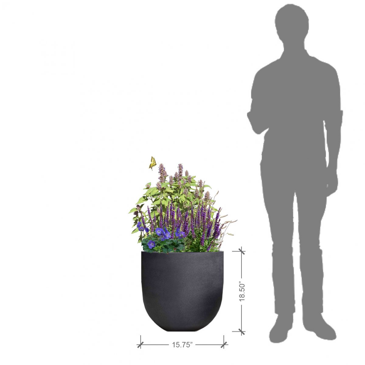 Small Round Charcoal Planter Kit, BLOOMTIME